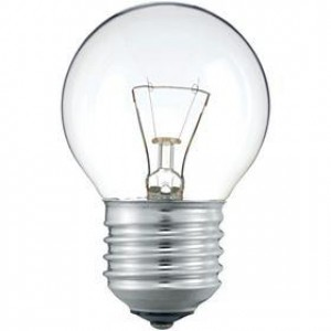 Small E27 clear light bulb 15W Light Essentials