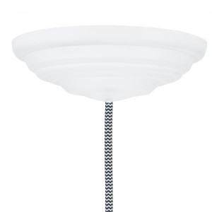 Ceiling rose 1-7 cables 150mm matte white