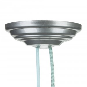 Ceiling rose 1-7 cables 150mm metallic