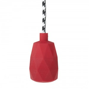 Lamp holder sleeve red silicone