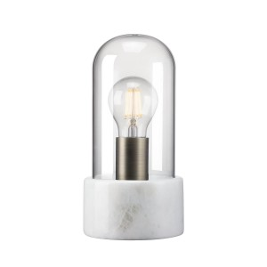 Nordlux 'Siv' table lamp white marble/glass Light Essentials