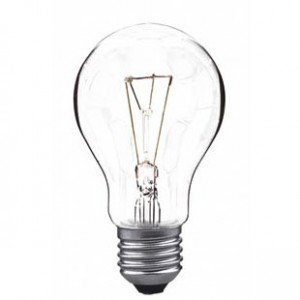 60W incandescent light bulb E27 clear light essentials