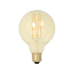 Calex long LED globe 4W gold g95 dim