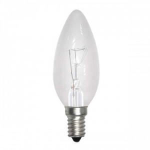 Incandescent chandelier lamp clear 25W E14 Light Essentials