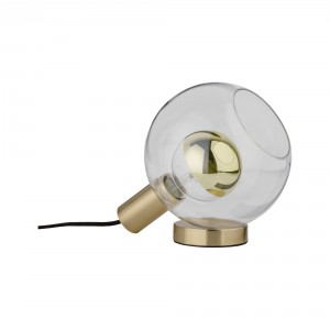 Table lamp 'Esben' brass/ glass Light Essentials