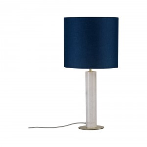 Table lamp 'Olar' marble with fabric shade Light Essentials