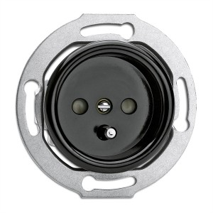 bakelite built-in power socket
