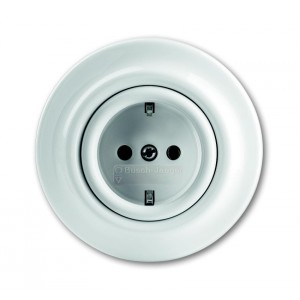"""Decento"" built-in power socket porcelain"
