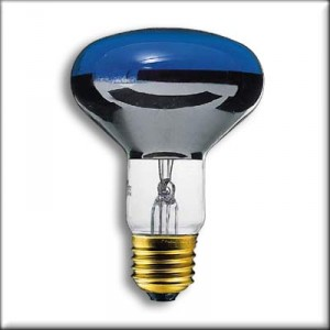 Blue incandescent reflector E27 60W R80