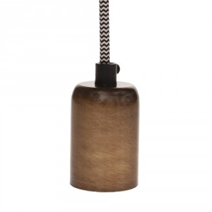 Brushed bronze colored E27 lamp holder sleeve light essentials