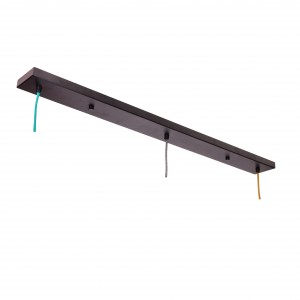 Mounting bar for 3 lamps - black metal Light Essentials