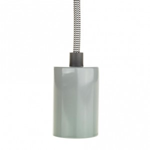 Lamp holder sleeve E27 grey metal Light Essentials