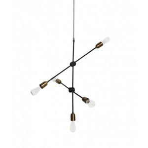 "House Doctor ""Molecular"" pendant lamp black/brass Light Essentials"