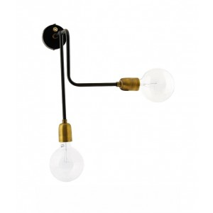 "House doctor wall fixture ""Molecular"" black/brass Light Essentials"