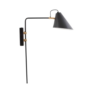 House Doctor wall lamp 'Club' black / brass