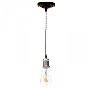 Retro pendant lamp grey silver E27
