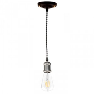 Retro pendant black silver E27 at Light Essentials