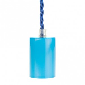 Lamp holder sleeve E27 blue metal Light Essentials