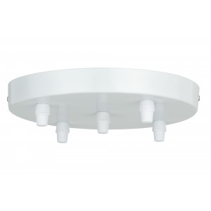 White ceiling rose for 5 cables Light Essentials