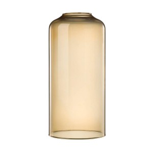 glass lampshade amber gold