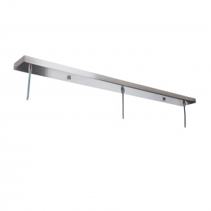 Mounting bar for 3 lamps - satin steel Light Essentials