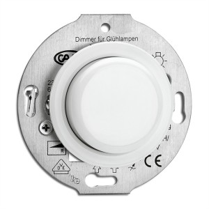 Porcelain built-in dimmer 60-600 W Light Essentials