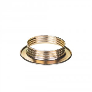 Brass ring for E27 lamp holder with external thread