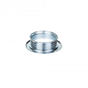 Ring for E14 metal lamp holders with external thread