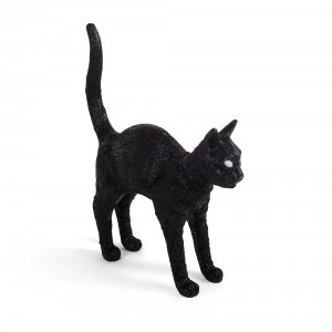 Seletti 'Jobby the Cat' table lamp - black Light Essentials