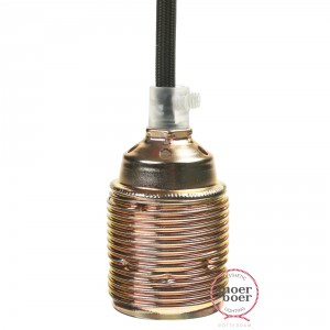 Lamp holder E27 brass with external thread