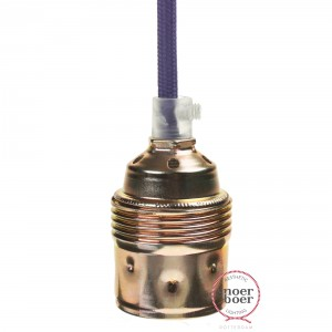 Brass E27 lamp holder with half external thread