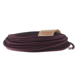 eggplant fabric cable