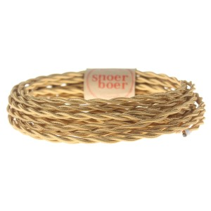 gold colored braided cable