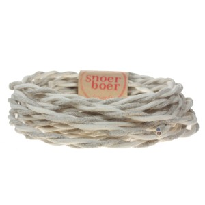 Snoerboer Naturals: Twisted natural fabric cable