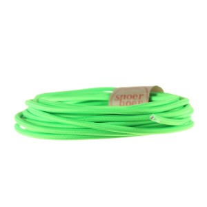 Neon green textile cable Snoerboer