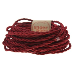 Torcido red textile cable Snoerboer