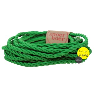 Torcido grass green fabric cable