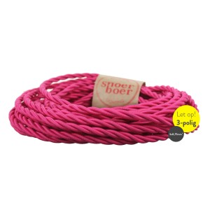 Torcido fuchsia fabric cable
