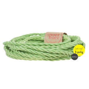 Torcido pistachio fabric cable
