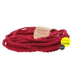 Torcido red fabric cable