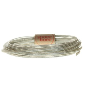Flat transparent power cord