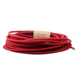 Wine red fabric cable