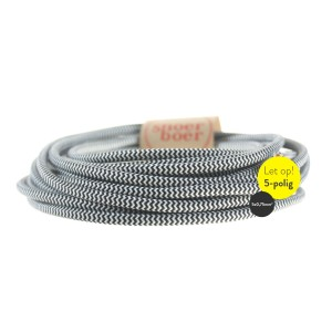 Zebra fabric cable 5-core Light Essentials