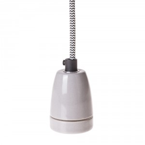 Porcelain lamp holder E27 grey Light Essentials