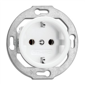 Porcelain built-in power outlet with child protection Light Essentials