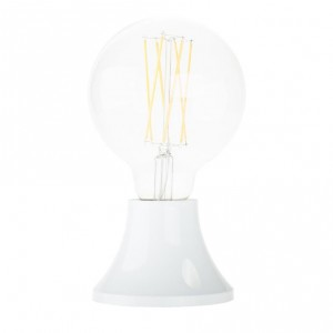 White plastic mountable lampholder