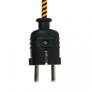 Black plug with pin-earth Belgium and Netherlands