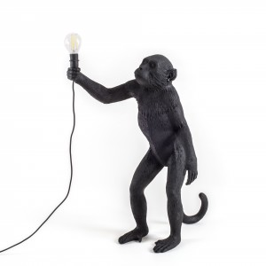 Seletti Monkey black 'standing' Light Essentials