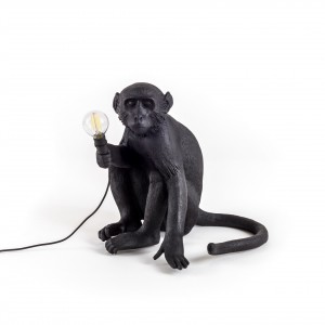 Seletti Monkey black 'sitting'  Light Essentials