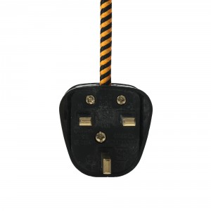 Black rewireable UK plug 3-pin 13A